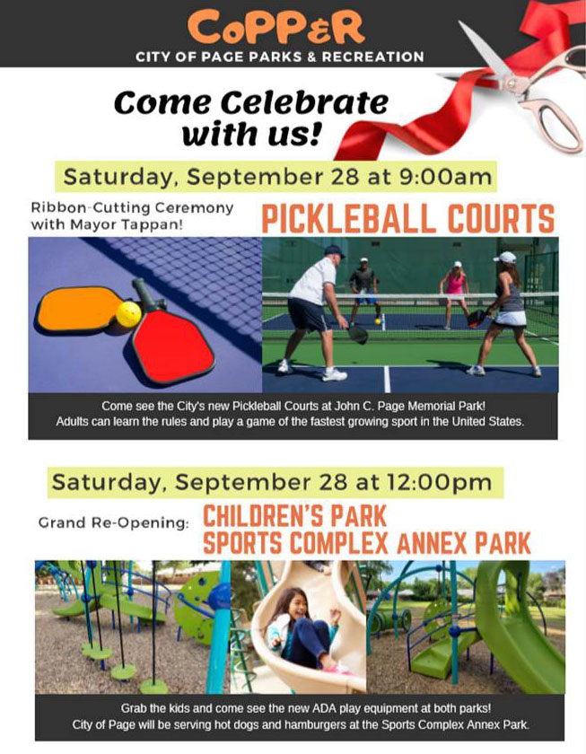 GO Pickleball and ADA Parks flyer